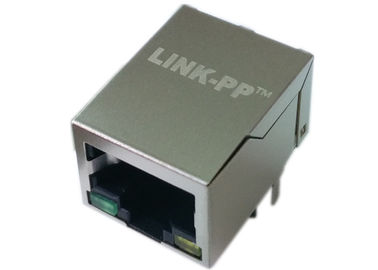 China LPJ0012HDNL magnetisches 1x R-j45, 8P8C, schirmen rechtwinkliges W/LED ab distributeur